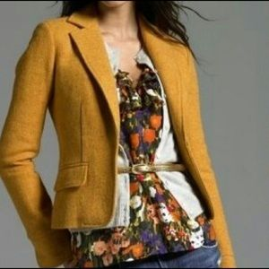 J Crew Donegal Tweed Golden Wool Ecole Blazer  - 8